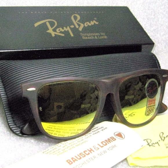 6fcc1475968 Ray-Ban USA NOS B L Wayfarer Rare W1681 Sunglasses